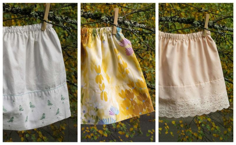 Big sister designs skirts