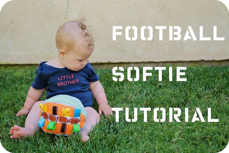 Football Softie Tutorial by The Train to Crazy