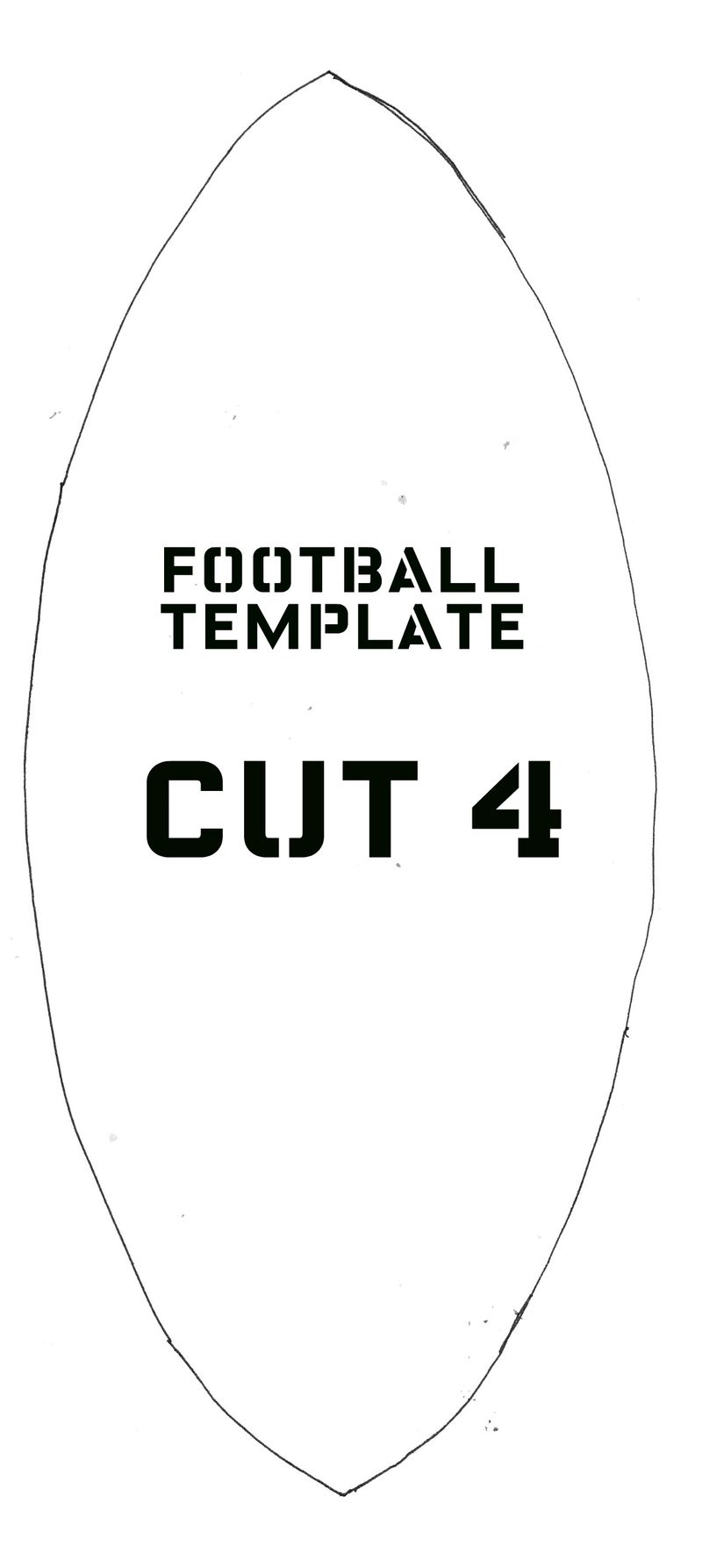 Football softie template 1