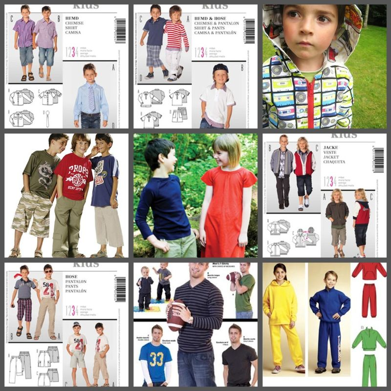 Sewing patterns for boys