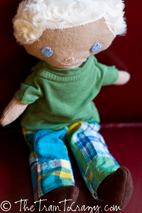 Handmade boy doll-4580