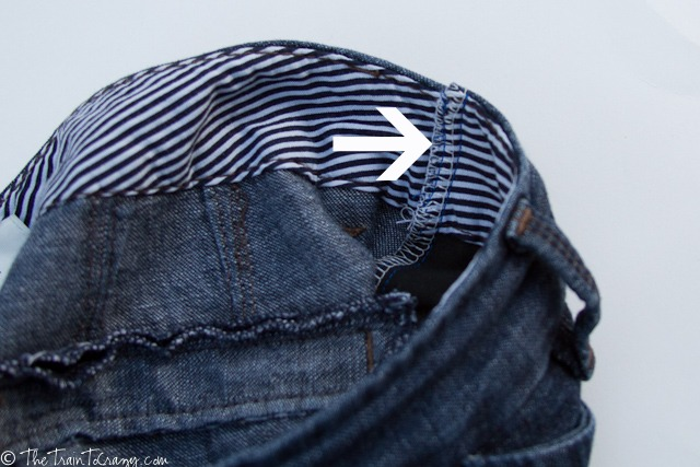 Jeans seam inside finish