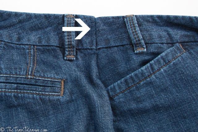 Jeans seam tuck
