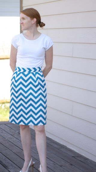 chevron skirt DIY