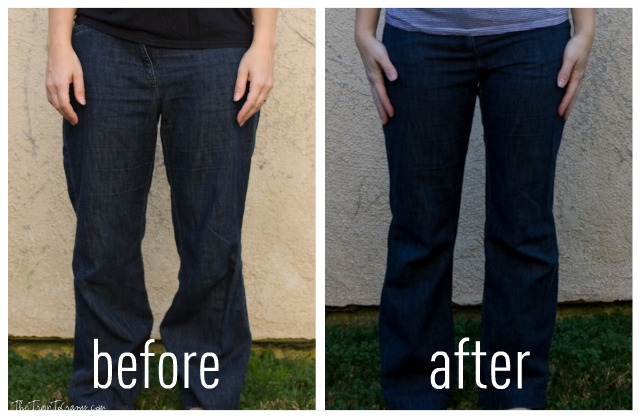 Jeans before and after
