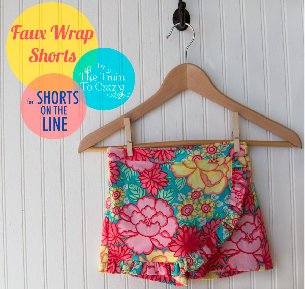 Faux-wrap-shorts
