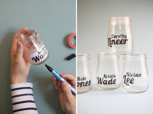 write names on glasses