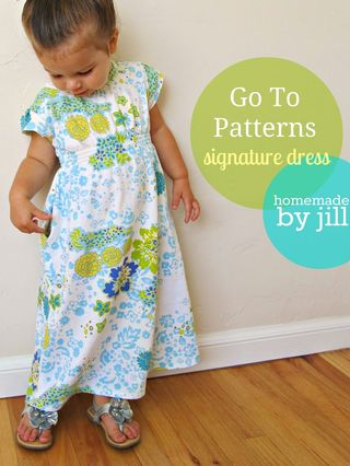 Go To Signature Dress sewing pattern homemade by jill little girl maxi dress