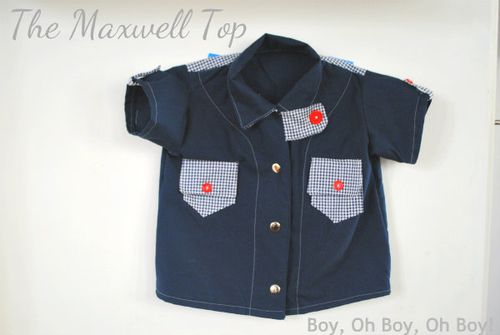 Maxwell top sewing pattern for boys