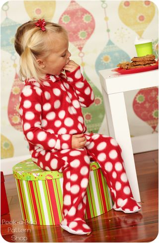 Classic footed pajamas pattern tutorial