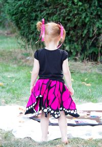 Butterfly skirt tutorial