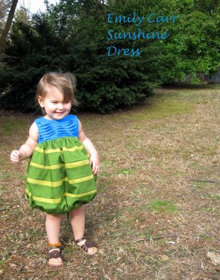 Call Ajaire Emily Carr Inspired Sunshine Dress Bean front