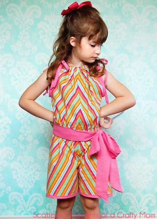 Girls Romper Sewing Pattern