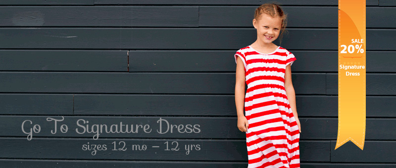 Signature dress slide sale