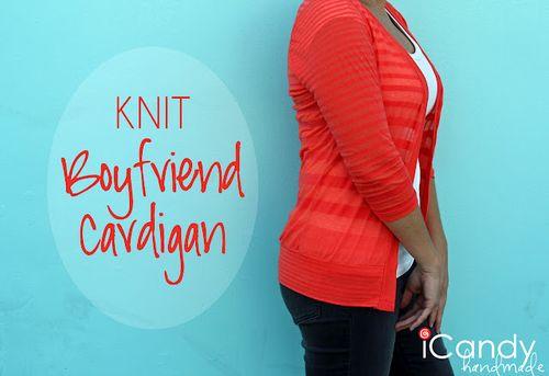 Knit boyfriend cardigan