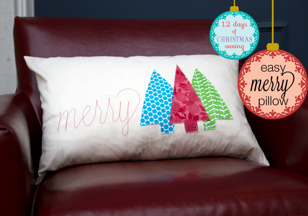 Merry-pillow-cover & 12 Days of Christmas Sewing: Easy Merry Pillow - Andrea\u0027s Notebook pillowsntoast.com