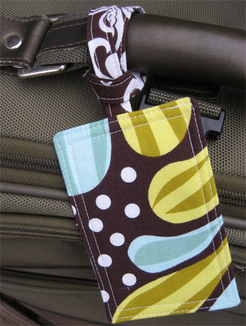 Fabric luggage tag tutorial