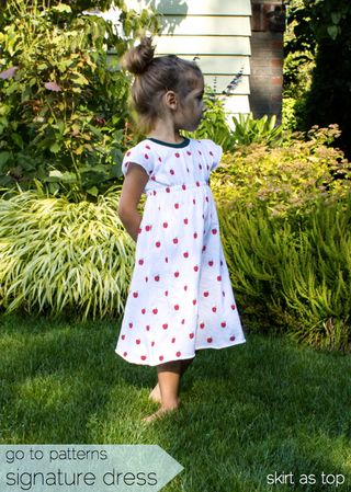 Skirt as Top Go To Signature Dress sewing pattern with apples