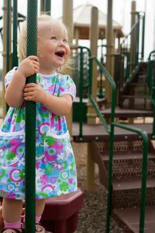 Go To Signature Dress sewing pattern for girls Sew Fearless