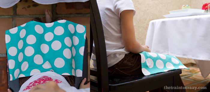 Cloth napkins just the right sizes for laps. Lapkins on thetraintocrazy.com