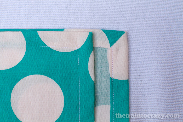 easy mitered corners tutorial for cloth napkins