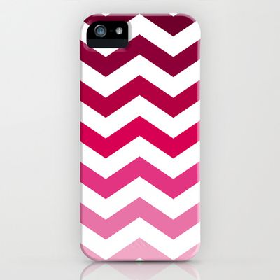 Chevron phone pink