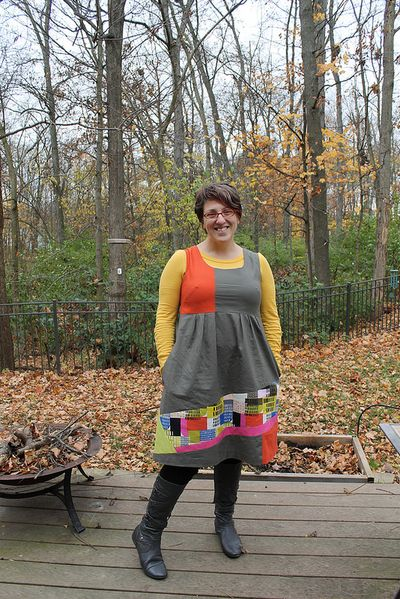 patchwork washi dress