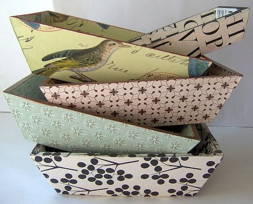 Mod Podge soap trays