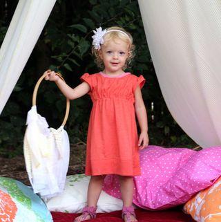 KoJo Designs Go To Signature Dress sewing pattern orange dress
