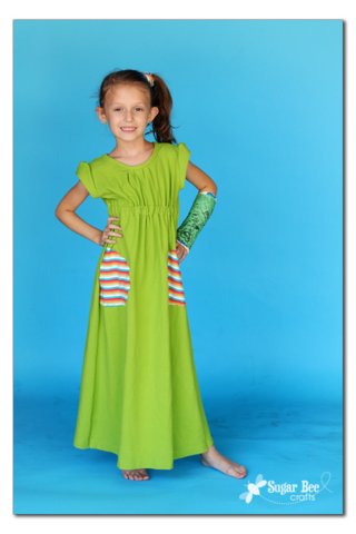 Go To Signature Dress sugar bee crafts green maxi dress for girls