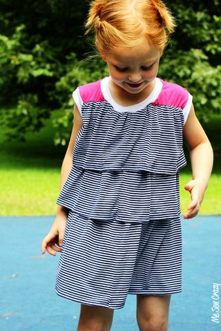 go to signature dress sleeveless me sew crazy ruffle stripe