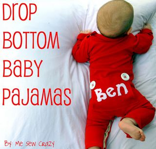 drop bottom baby pajamas