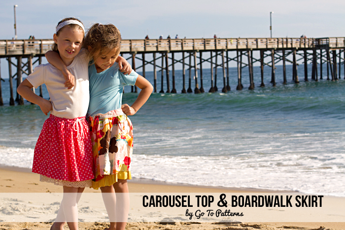 Boardwalk Skirt and Carousel Top #sewing #pattern