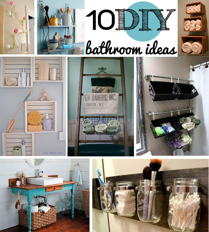 10 diy bathroom ideas andrea 39 s notebook - Room Decorations Diy Pinterest