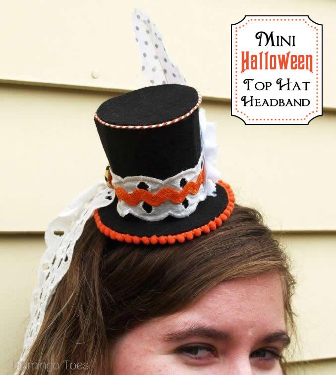 169917ebdb4 Handmade Costume Series  DIY Mini Top Hat Headband Tutorial ...