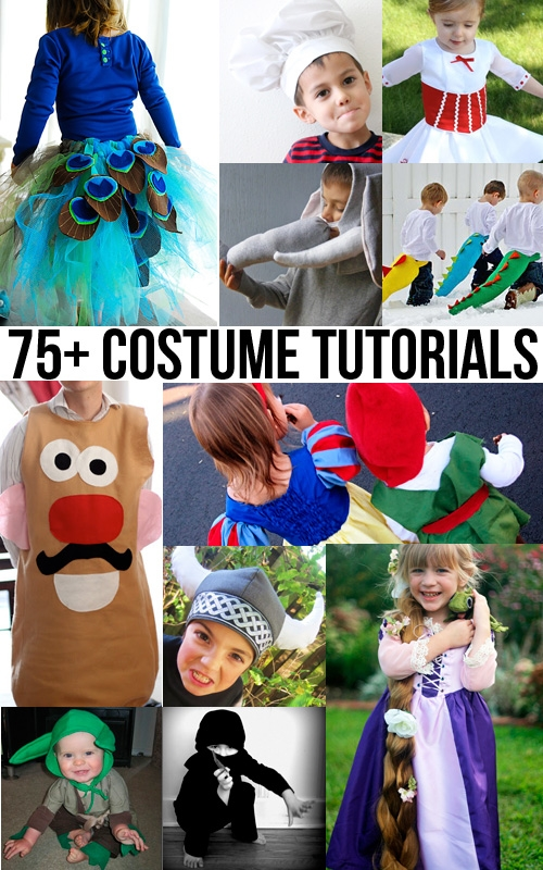 75+ fantastic Halloween or dress up costume tutorials #DIY #costume #tutorial #halloween