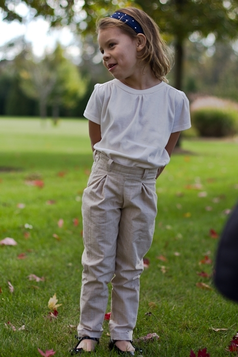 Carousel Top and Holly Trousers sewing patterns for girls