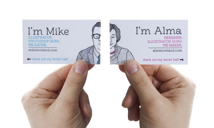 Business cards for bloggers andreas notebook mike and alma do this well it makes an impact says everything you need to know to figure out what they do and how to contact them colourmoves
